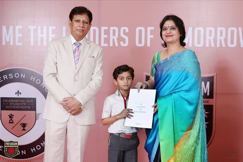 CHAIRPERSON HONOURS, OCTOBER - 2015 | PRESIDIUM SCHOOL GURGAON